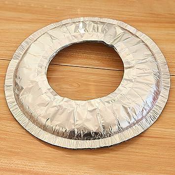 xeno-10 X reutilizable tapa de Gas estufa quemador de aluminio Pantalla maletero alfombrilla para limpiar (redondo): Amazon.es: Hogar