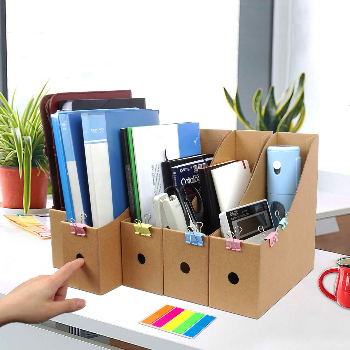 File Magazine Holder Cardboard Magazine Book Rack Lever Arch File Folder