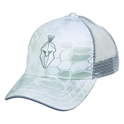 Amazon.com  Kryptek Spartan Warrior Helmet Tactical Camo Yeti   White  Meshback Cap Hat 141 048a3c244c3e