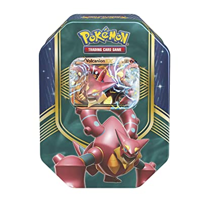 Pokemon Cards TCG: 2016 Fall Tin Battle Heart Volcanion w/ Special Foil Card!: Toys & Games