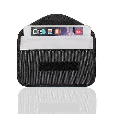 Mengshen Grande Bolsa De Faraday, Bolsa De Bloqueo De Señal WiFi/gsm/LTE/NFC/RF Adecuada para Teléfono Celular, Tarjetas De Crédito, Llave del ...