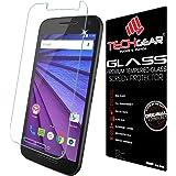 TECHGEAR® Motorola Moto G (3rd Gen / 2015 Edition) GLASS Edition Genuine Tempered Glass Screen Protector Guard Cover (Moto G3)
