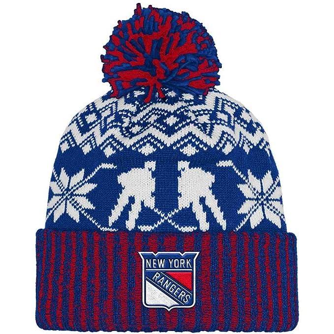 Amazon.com   adidas New York Rangers NHL Snowflake Player Cuffed Pom ... a830185e7c6