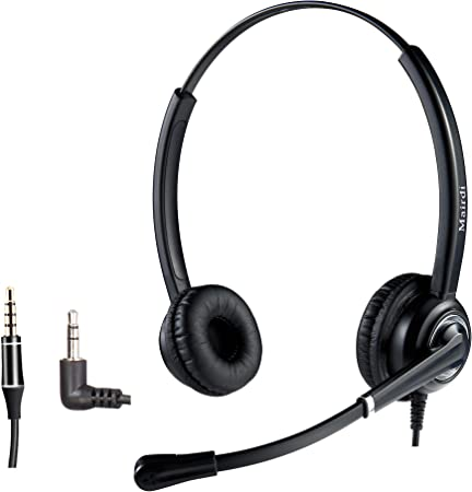 Mairdi 2 5mm Telefon Headset Mit Noise Cancelling Elektronik