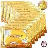 Premium Crystal Gold Collagen EYE Mask Crystal Bio Anti Wrinkle Moisture Skin Care Patch Pad with Lavender Essential Oil, Collagen, Haluronic acid (x5 Collagen Masks)