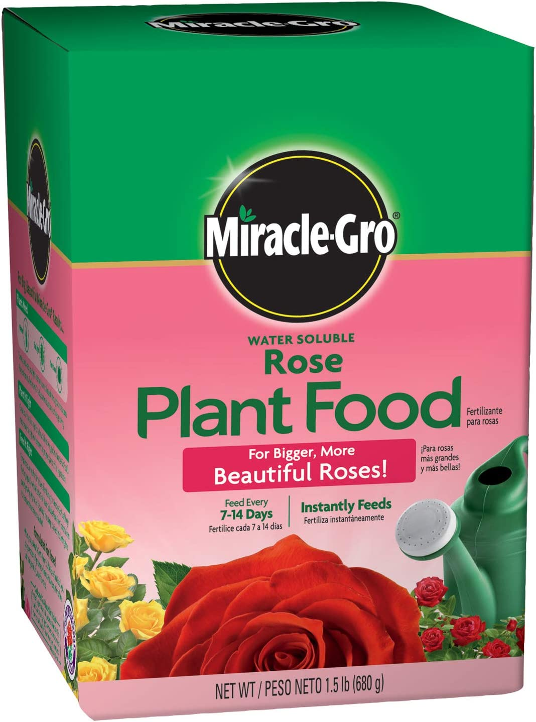 Amazon Com Miracle Gro Water Soluble Rose Plant Food 1 5 Lb