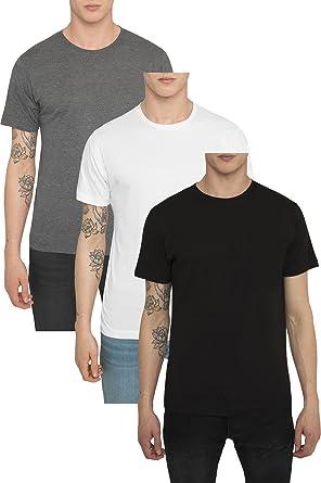 a81557afc3920 RADDAR7 T Shirt Uni Homme en Coton Jersey - Manches Courtes - Col Rond -  Lot .