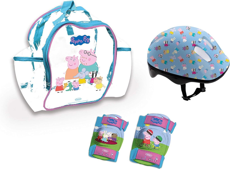 Peppa Pig Mochila+Casco+Protecciones (OPEP004), Multicolor ...