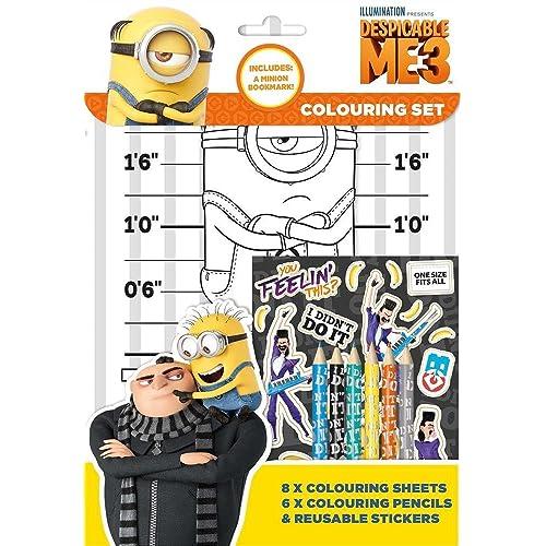 Despicable Me 3Minions Set de coloriage Pad Lot de fête d'activité Stickers Enfants