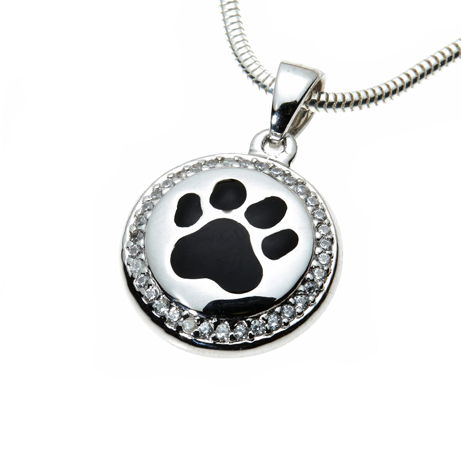 Urns UK Cremation Ashes Jewellery Pendant Belgravia Design 15, Sterling Silver UU610066A
