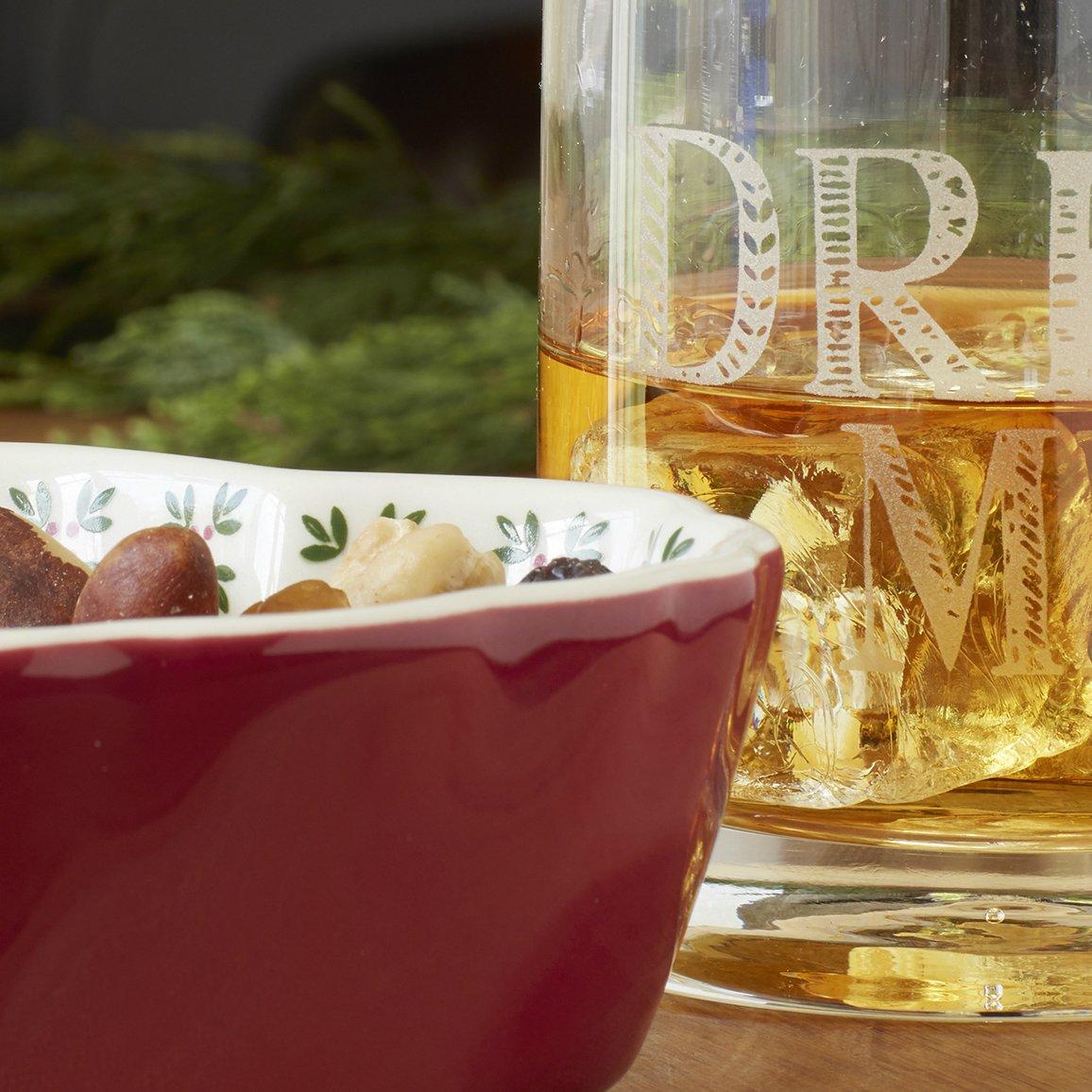 36.5 fl oz 1 L Creative Tops Stir It Up /'Drink Up/' Glass Water Wine Carafe