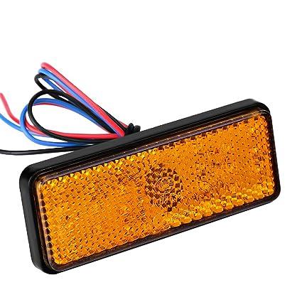 Luz de freno de cola LED, Rectángulo de ciclomotor universal para ...