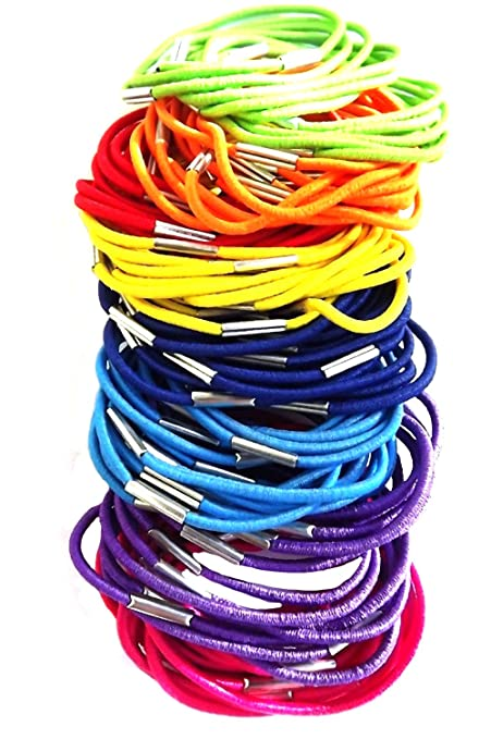 100 Coloured Thin Hair Elastics IN8710  Amazon.co.uk  Beauty 3c13cdaa9f4