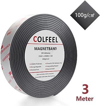 5 Meter Magnetband selbstklebend Magnetklebeband Klebestreifen Magnet 1,18€//m