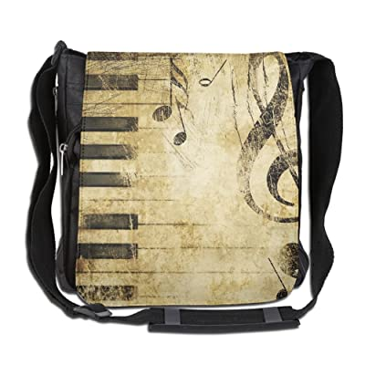Piano Key Fashion Print Diagonal Single Shoulder Bag