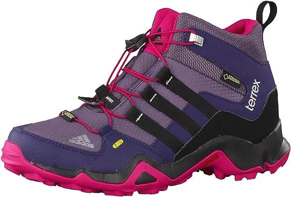 adidas Kids Terrex MID GTX - Ash Purple / Core Black / Bold Pink - EU 39 1/3 / UK 6 / US 6.5 - Kids waterproof versatile Gore-Tex® hiking shoe