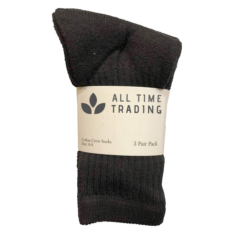 Kids Wholesale Unisex Cotton Crew Socks Black Crew Socks For Kids 6-8 120 Pack