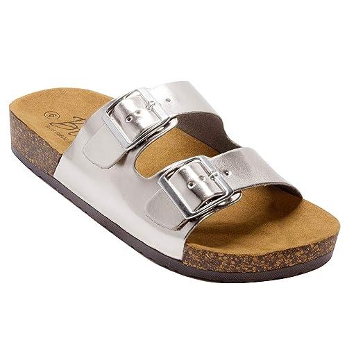a7db1169 Blue Suede Shoes Sandalias de Corcho para Mujer, Color Azul, con Parte  Inferior de
