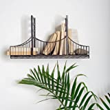 SturdyUnique And Durable Mercana Fran Black Metal Bridge Shelf Ideal For Displaying Statues