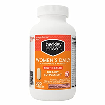 Berkley Jensen Womens Daily Multivitamins and Minerals Supplement Tablets, 300 ct.