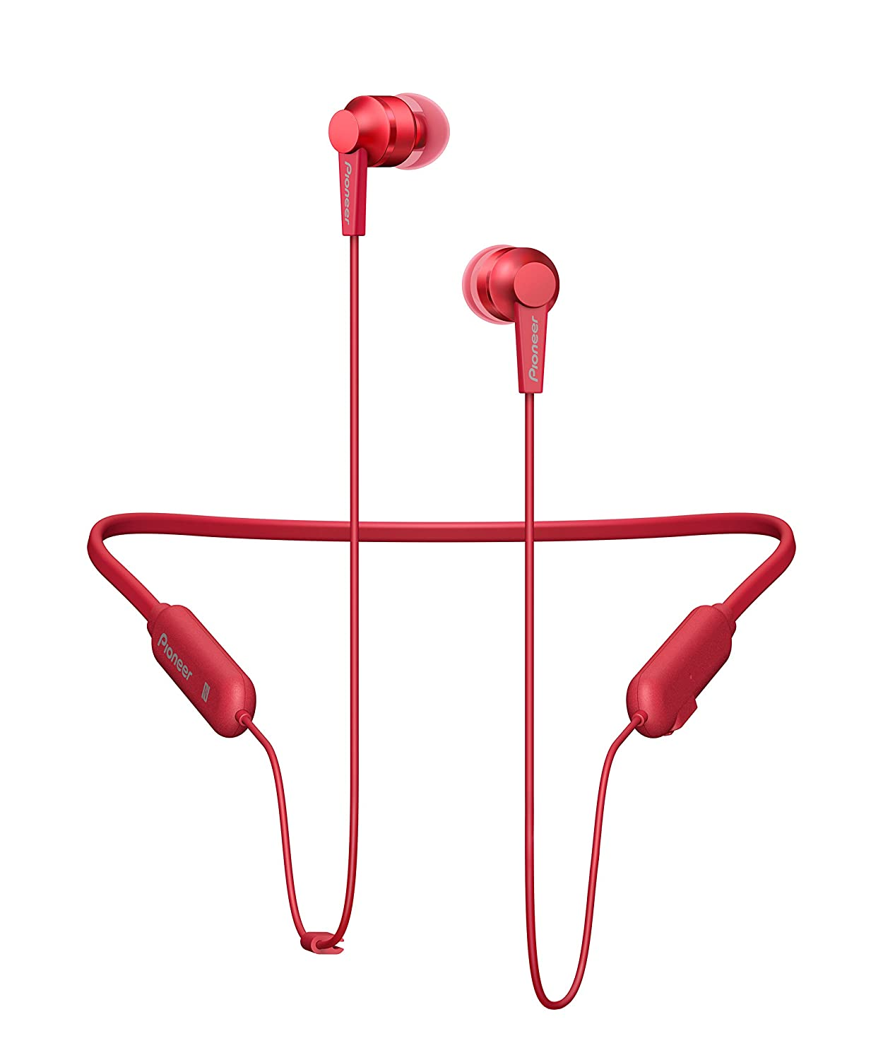 Pioneer SE-C7BT Neck Band Type Bluetooth Earphone (Carmine Red)