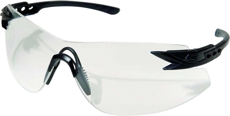 Edge Tactical Sharp Edge Safety Glasses Black Frame Clear Anti-Fog Lens