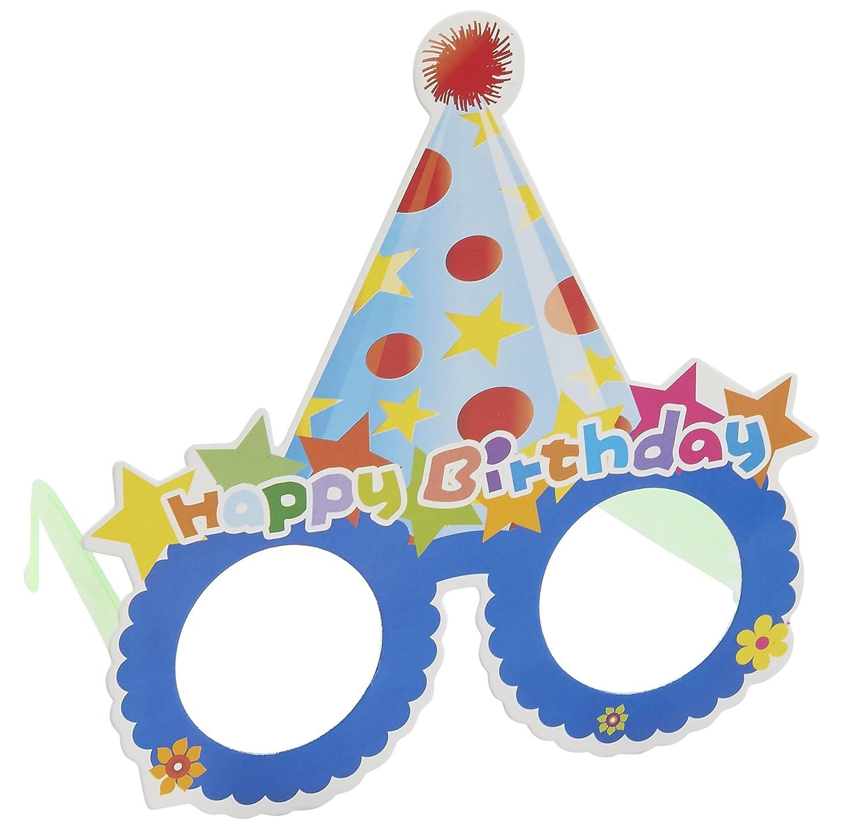 c12f594f38c Amazon.com  Happy Birthday Glasses - 12-Pack Paper Party Eyeglasses Frames