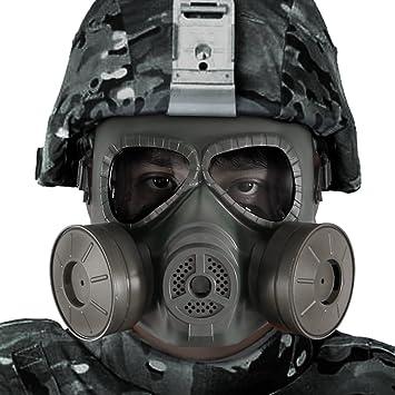 Bienna Airsoft táctico Paintball Protector de cara completa ...