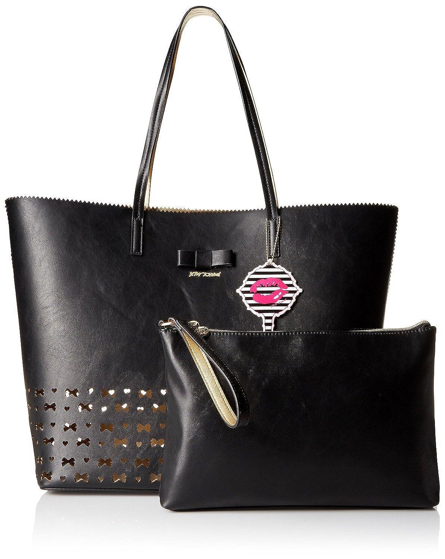 Betsey Johnson Laser Tag, Bag in Bag, Black