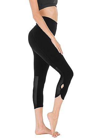 """a3b8426109 Queenie Ke Women 22"""" Yoga Capris Power Flex Height Waist 3 Phone Pocket  Running Pants"""