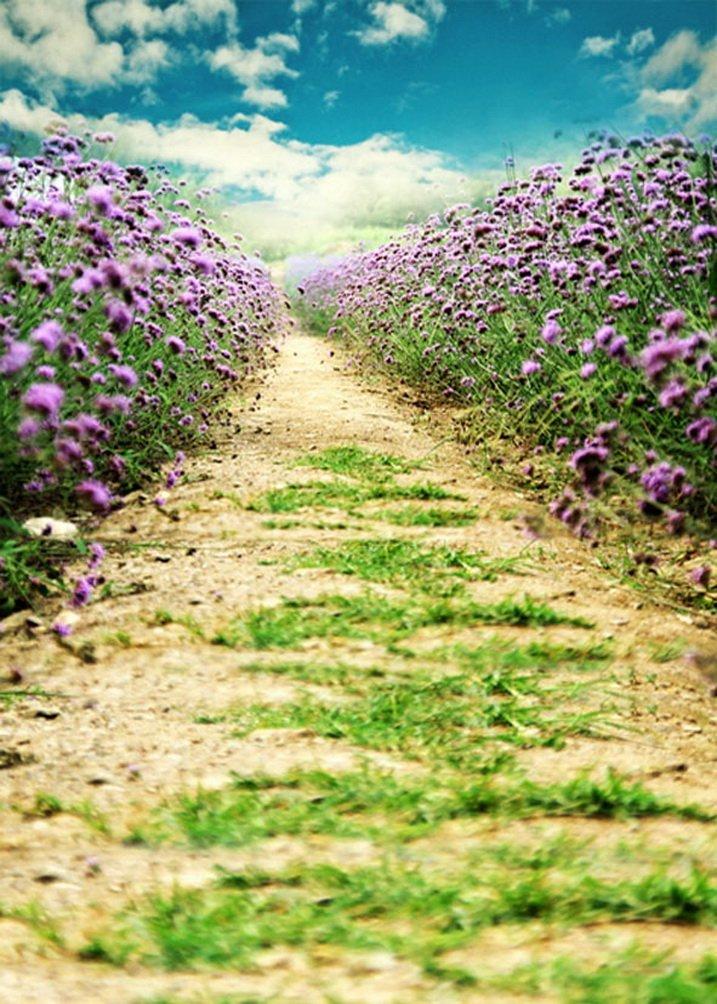 パスamongパープル花写真の背景幕写真小道具Studio背景5 x 7ft   B01G54U90U