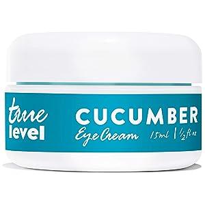 True Level Cucumber Eye Cream with Vitamin C Hyaluronic Acid For Puffy Eyes Dark Circles Under Eye Bags Treatment, 15ml / 0.5 fl.oz