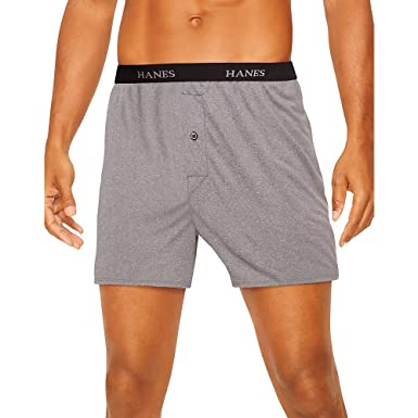 ae62b6f1ab7f Hanes Men's 5-Pack Ultimate Dyed Exposed Waistband Knit Boxer with ComfortFlex  Waistband - Assorted Colors at Amazon Men's Clothing store: Boxer Shorts