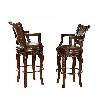 Strange Steve Silver Company Antoinette Swivel Bar Chairs Set Of 2 23 W X 22 D X 47 H Ibusinesslaw Wood Chair Design Ideas Ibusinesslaworg