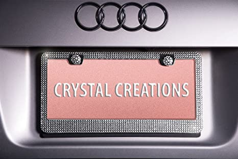 Amazon two bling license plate frames premium crystal diamond two bling license plate frames premium crystal diamond rhinestone gems cute sparkly car decoration junglespirit Choice Image