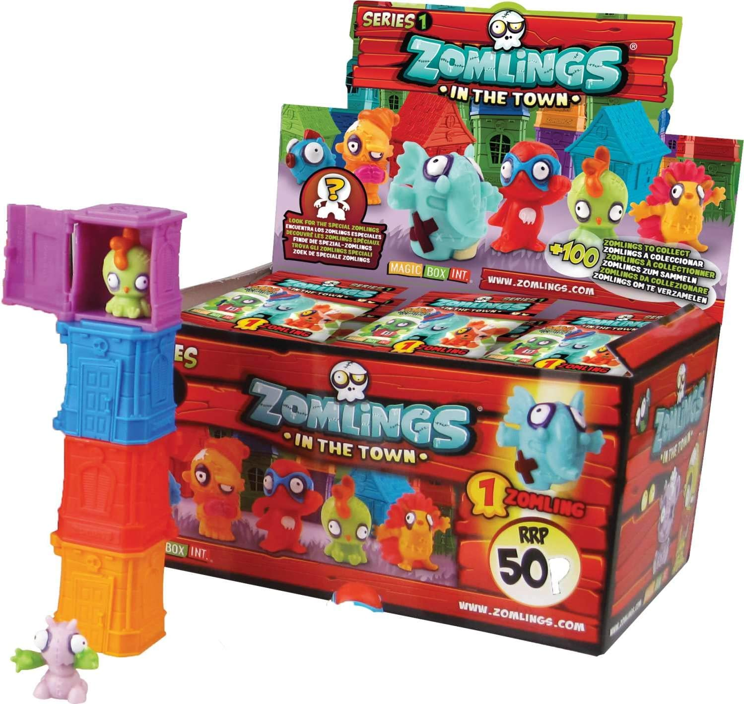 Magic Box Int - Zomlings Tower Pack CDU (Set of 24): Amazon.es: Juguetes y juegos