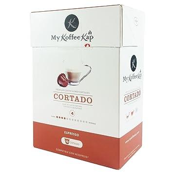 CORTADO - 120 cápsulas de cortado PREMIUM compatibles con Nespresso®: Amazon.es: Hogar