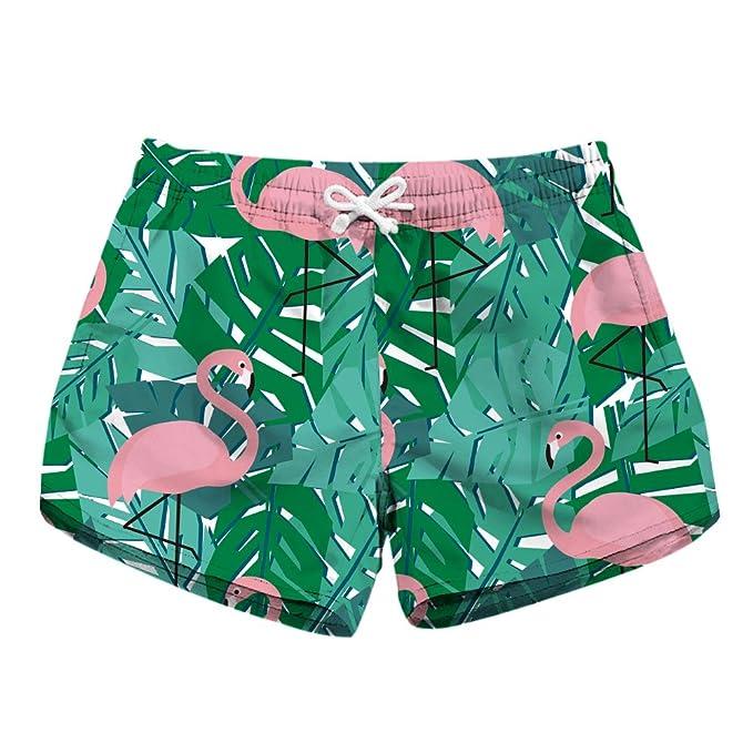 70efa0f00f Honeystore Women's Summer Quick Dry Print Boardshorts Swim Trunks ...