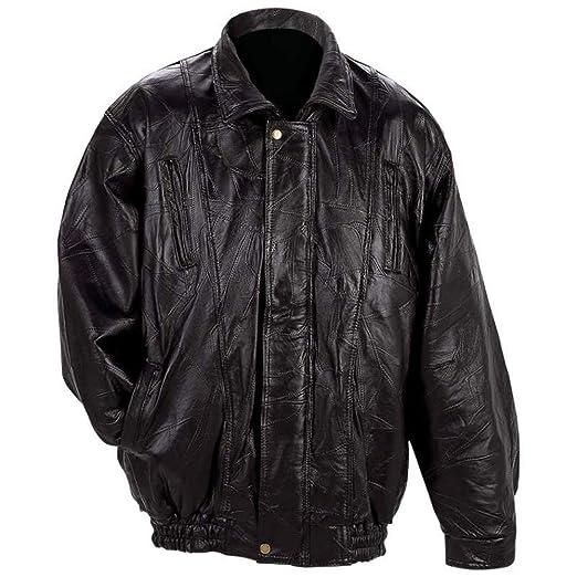 4b124a61a Men's Italian Mosaic Genuine Lambskin Leather Jacket