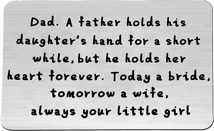Dad Wedding Card Father Of The Bride Card. Father Wedding Card Forever My Dad Forever Your Little Girl Card Father Card Dad Card