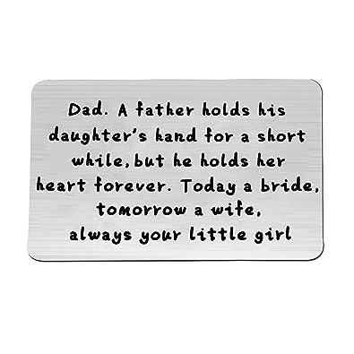 FEELMEM Engraved Wallet Love Note Insert Metal Card Boyfriend Birthday Gift Anniversary Cards Gifts