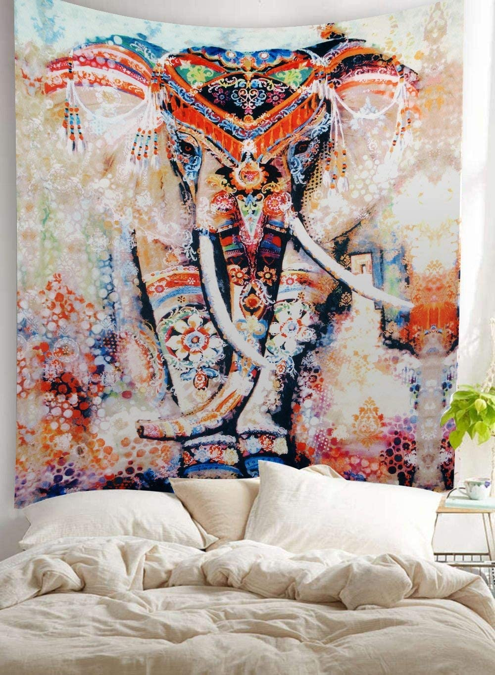 Amazon Com Bohemian Room Decor Hippie Boho Chic Style Gypsy Gifts Elephant Wall Hanging Tapestry Decor Furniture Decor