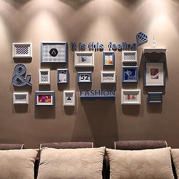Moderne Einfachheit Kreative Kombination Schlafzimmer Rahmen Wand  Wohnzimmer Restaurant Original Malerei Herz Massiv Holz Foto Wanddekoration