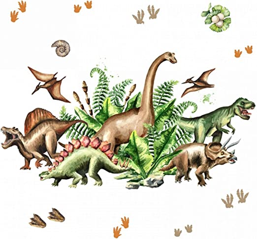 Samunshi Wandtattoo  Dinosaurier Stegosaurus ab 30cm Dino