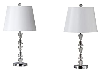 Amazon Com Safavieh Lighting Collection Deco Prisms Clear And White