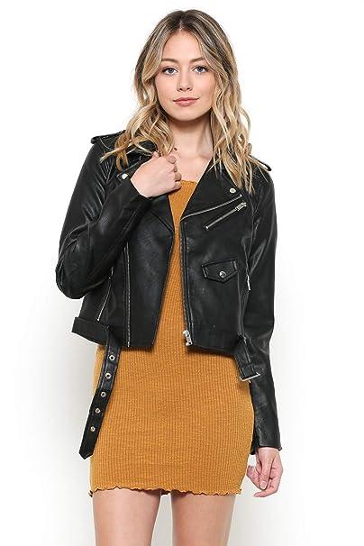 Amazon.com: Urban Look - Chaqueta de piel sintética para ...