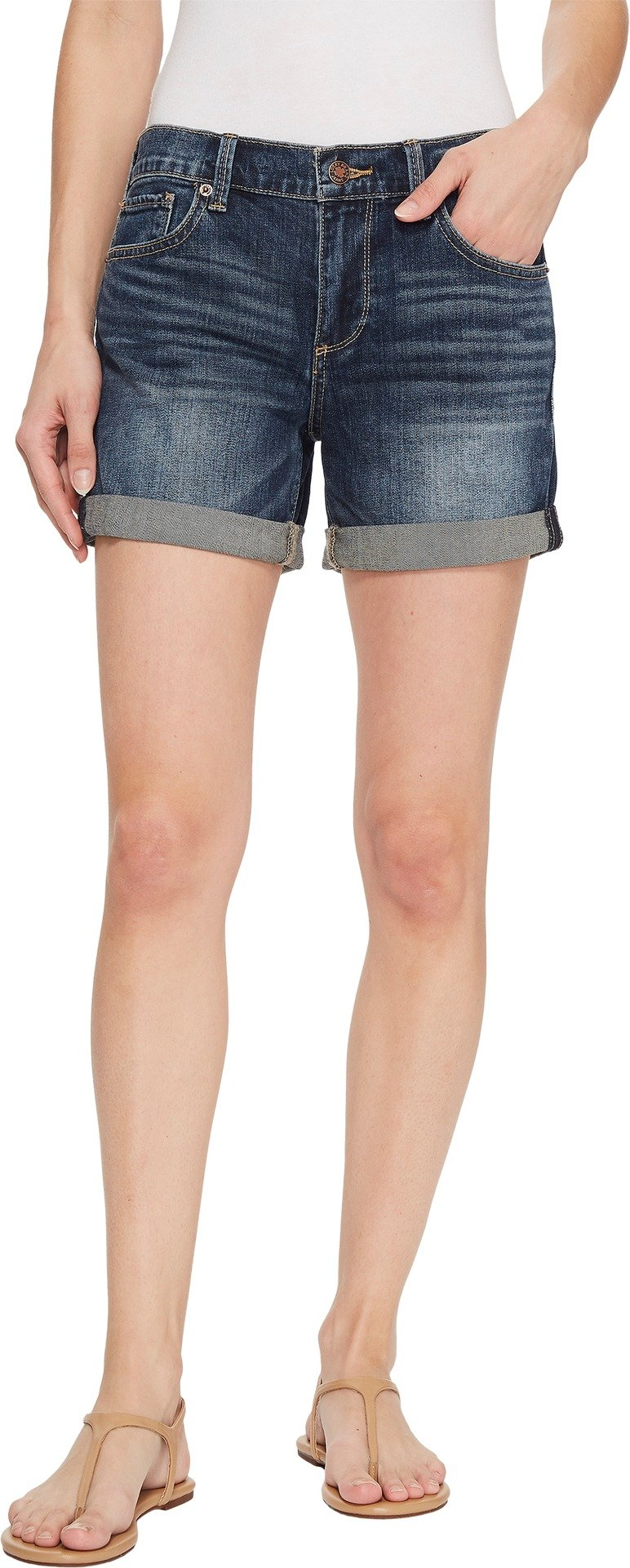 Lucky Brand Women's Mid Rise Roll up Short, Timber Lakes, 32