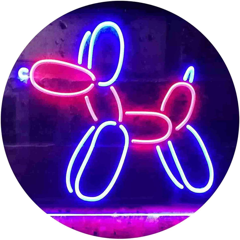 ADV PRO Balloon Dog Kid Room Dual Color LED Barlicht Neonlicht Lichtwerbung Neon Sign Rot /& blau 400 x 300mm st6s43-i3358-rb