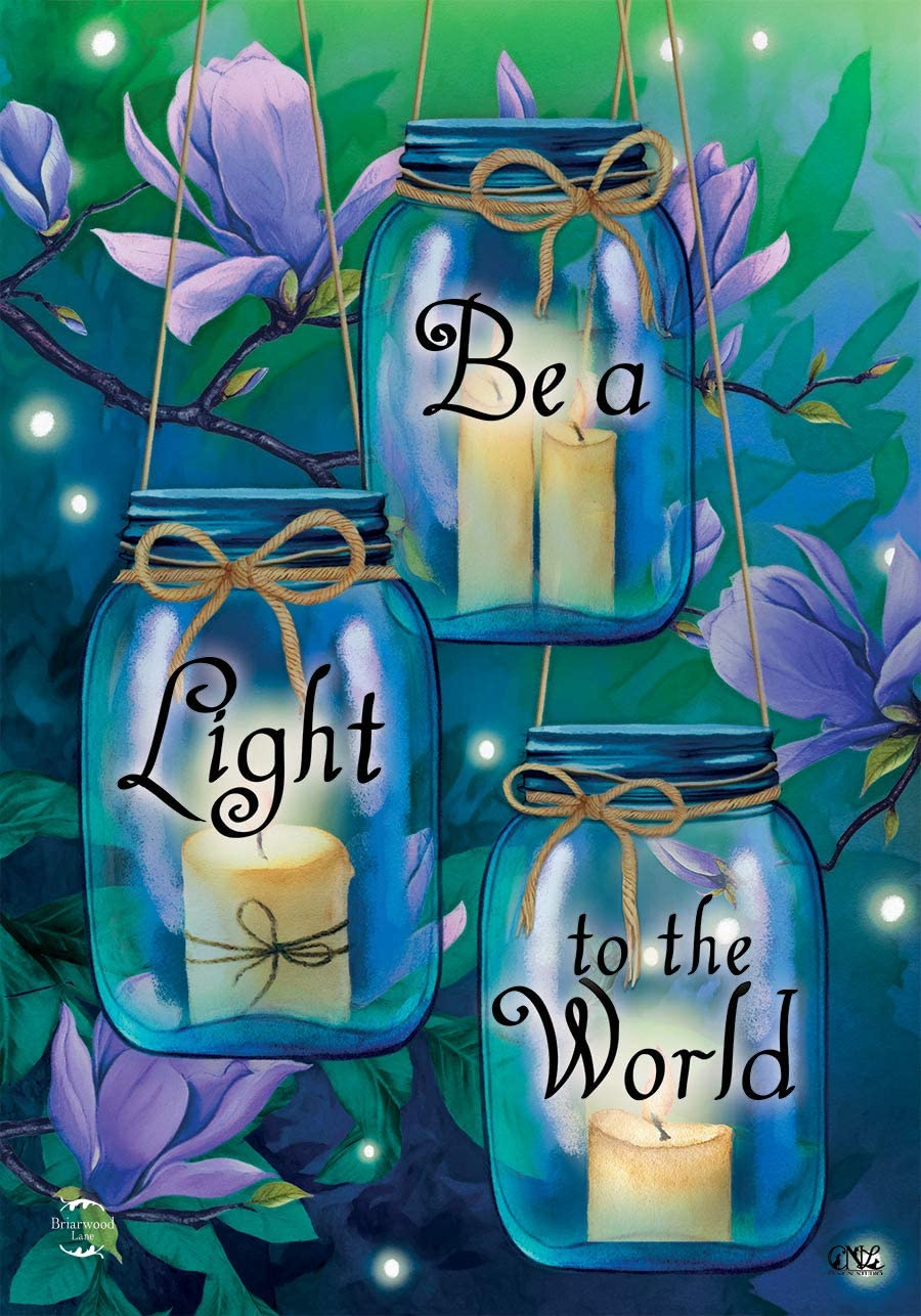 "Briarwood Lane Be A Light to The World Spring Garden Flag 12.5"" x 18"""
