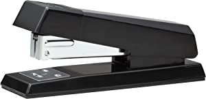 Bostitch No-Jam Premium Half-Strip Desktop Stapler, 20 Sheets, Black (B600-BLACK)